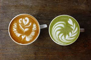 Matcha Kaffee Verlgeich